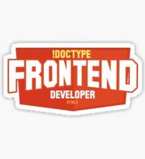 Front End Developer Sticker