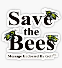 Save The Bees - GOLF Sticker