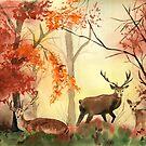 Autumn forest by Irina Reznikova