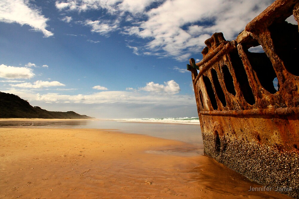 Maheno Shipwreck by Jennifer  Jamie