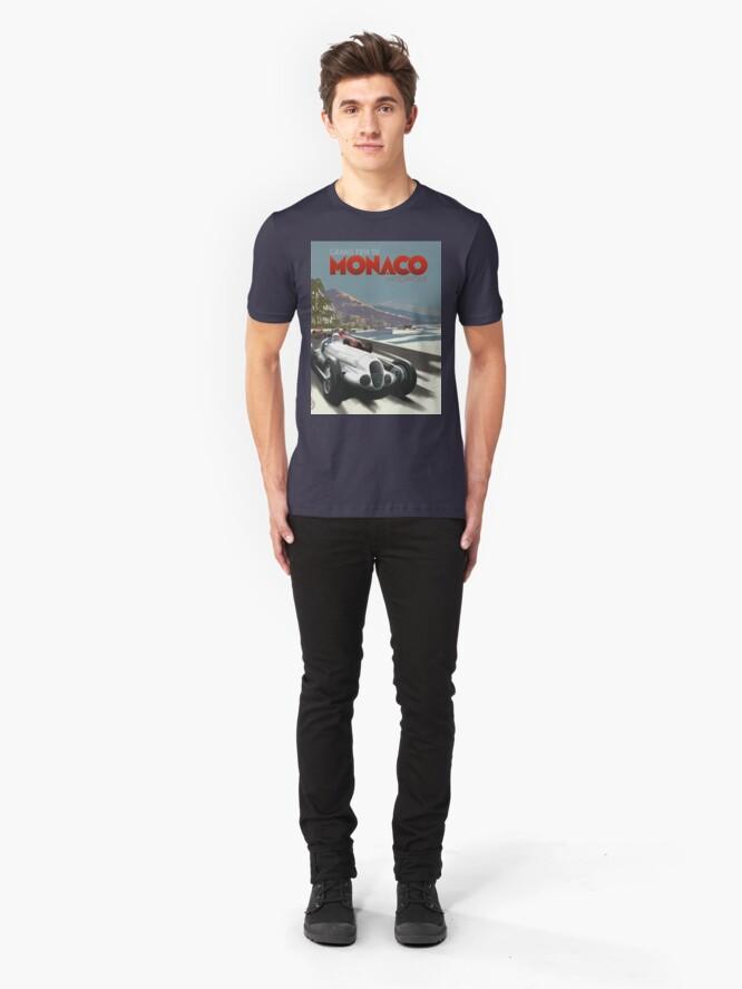 Alternative Ansicht von Retro Plakat Grand Prix von Monaco 1929 Slim Fit T-Shirt