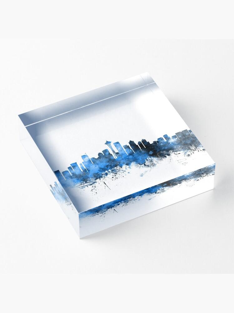 Alternate view of Seattle Washington Skyline Acrylic Block