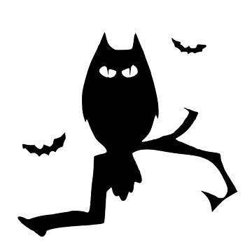 Halloween Owl Bat Silhouette by MartinV96