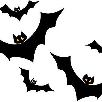 Halloween Night Bats by MartinV96