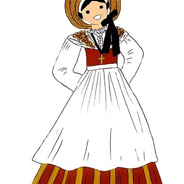 Traditional costume of Isère, France by Folklore