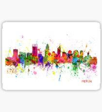 Perth Australia Skyline Sticker