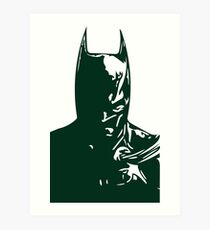 The Batman Green Art Print