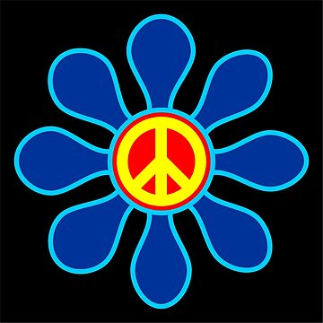 Hippie daisy CND Ban the Bomb by BigTime