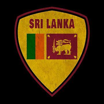 Sri Lanka coat of arms vintage by Rocky2018