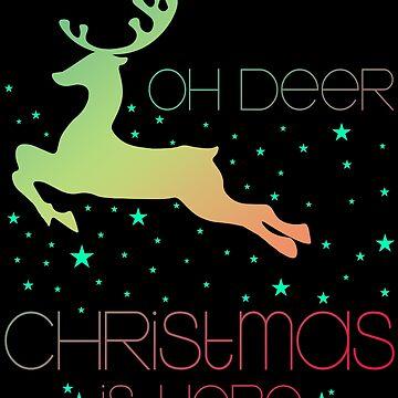 Oh Deer Christmas is here by NovaPaint