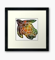 galactic sea turtle Framed Print