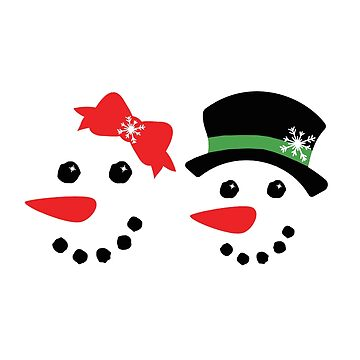 Christmas Snowman Faces by viCdesign