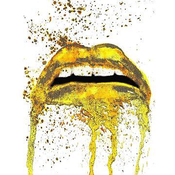 Gold lips art by belka