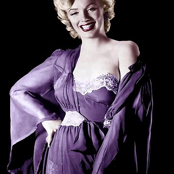 MARILYN MONROE: Beautiful in Purple Print by posterbobs