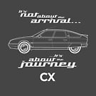 """Citroen CX Graphic Art. """"It's not about the arrival, it's about the journey"""" by RJWautographics"""