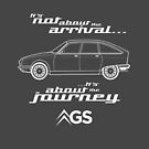 """Citroen GS Graphic Art. """"It's not about the arrival, it's about the journey"""" by RJWautographics"""
