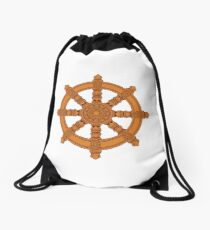 The Dharma Wheel Drawstring Bag