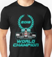 Lewis Hamilton Weltmeister 2018 Slim Fit T-Shirt