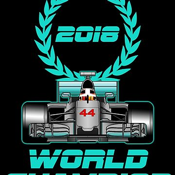 Lewis Hamilton F1 2018 World Champion by ideasfinder