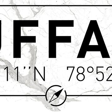The longitude and latitude of Buffalo, NY by efomylod