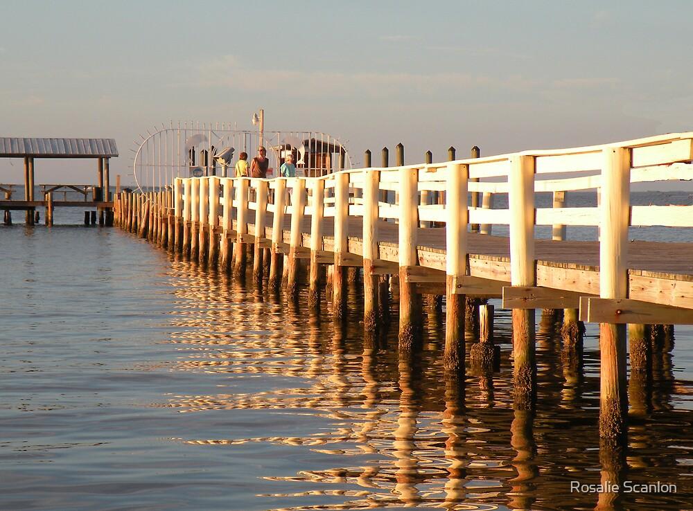 Fishing Dock Reflections by Rosalie Scanlon