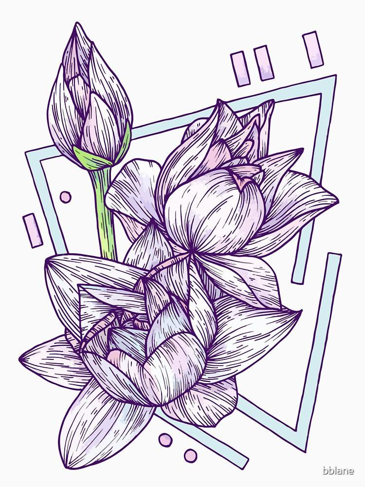 Geometric Pastel Lotus - Floral Study by bblane