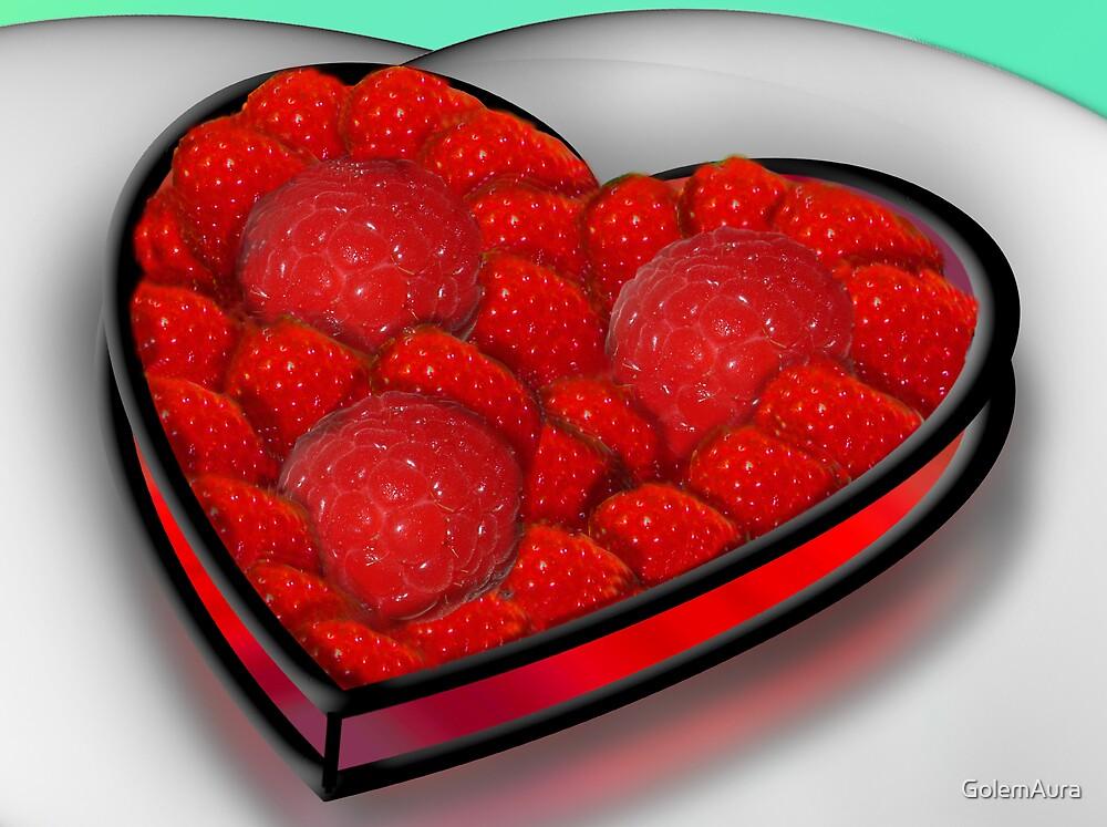 Raspberry Tart Heart by GolemAura