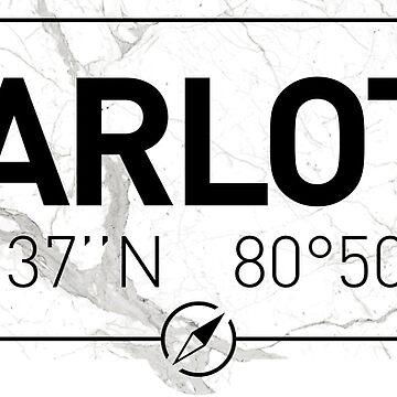 The longitude and latitude of Charlotte, NC by efomylod