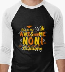 This is My Awesome Noni Costume Funny Gift  Men's Baseball ¾ T-Shirt