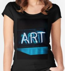 Art neon Women's Fitted Scoop T-Shirt