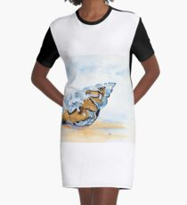 The Glass Shell Graphic T-Shirt Dress