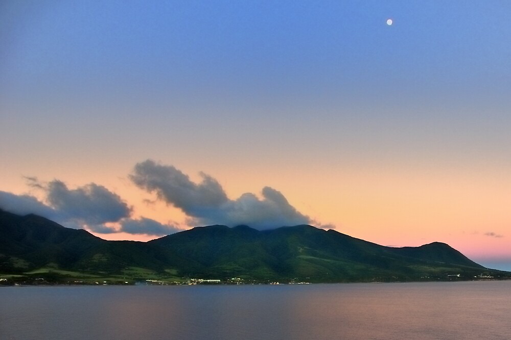 St. Kitts Moon by Stuart Upchurch