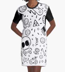 Lluksy Retro Gamer Graphic T-Shirt Dress