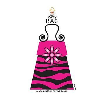 The Katy Bag / Black & Fuchsia Fantasy Zebra by srwdesign