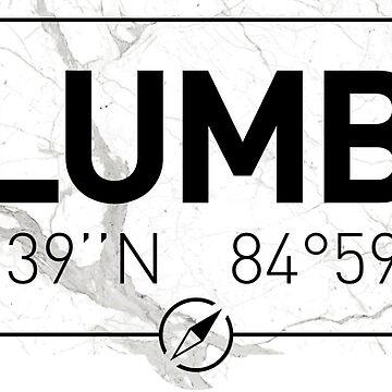 The longitude and latitude of Columbus, GA by efomylod