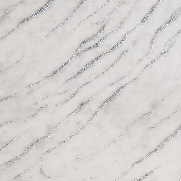 Marble Silver Glitter Glam #1 #shiny #gem #decor #art by anitabellajantz