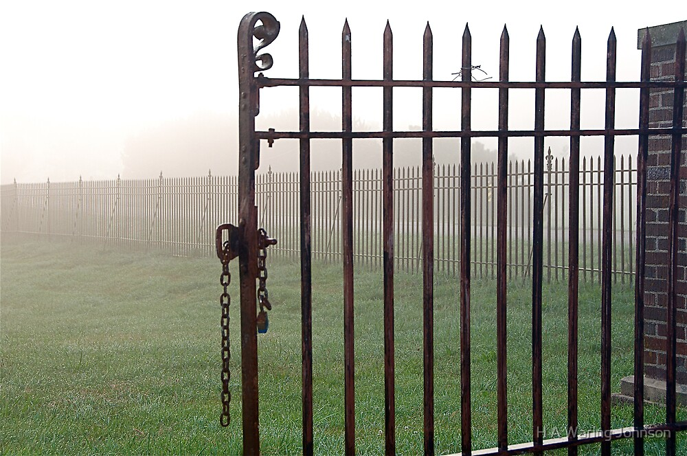 Cemetary Gate  Foggy Morn by H A Waring Johnson