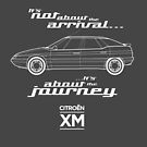 """Citroen XM Graphic Art. """"It's not about the arrival, it's about the journey"""" by RJWautographics"""