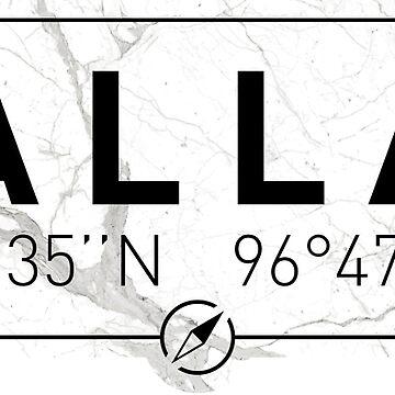 The longitude and latitude of Dallas, TX by efomylod
