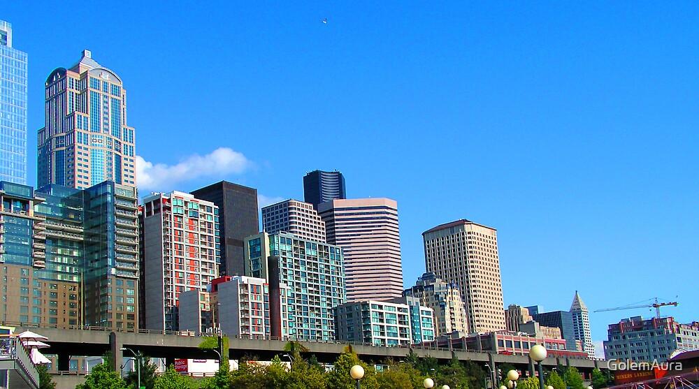 Seattle Skyline by GolemAura
