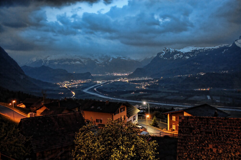 Night Alps by Michael Tuni