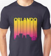 Retro 80s Orlando Skyline Silhouette Unisex T-Shirt