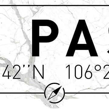 The longitude and latitude of El Paso by efomylod