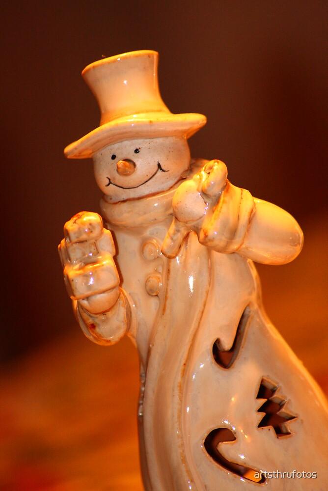 Snow Man by artsthrufotos
