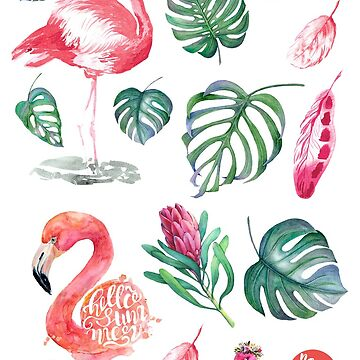 Flamingo Tropical Sticker by hazelong