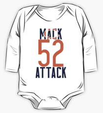 Khalil Mack 52 Bears Football One Piece - Long Sleeve
