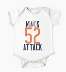 Khalil Mack 52 Bears Football One Piece - Short Sleeve