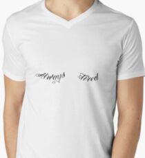 Always Tired Under Eye Tattoo Under Boobs Men's V-Neck T-Shirt