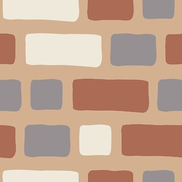 Rustic Bricks Pattern-Ligonier Tan Coloured Background by broadmeadow