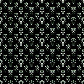 Skulls Motif Print Pattern by DFLCreative